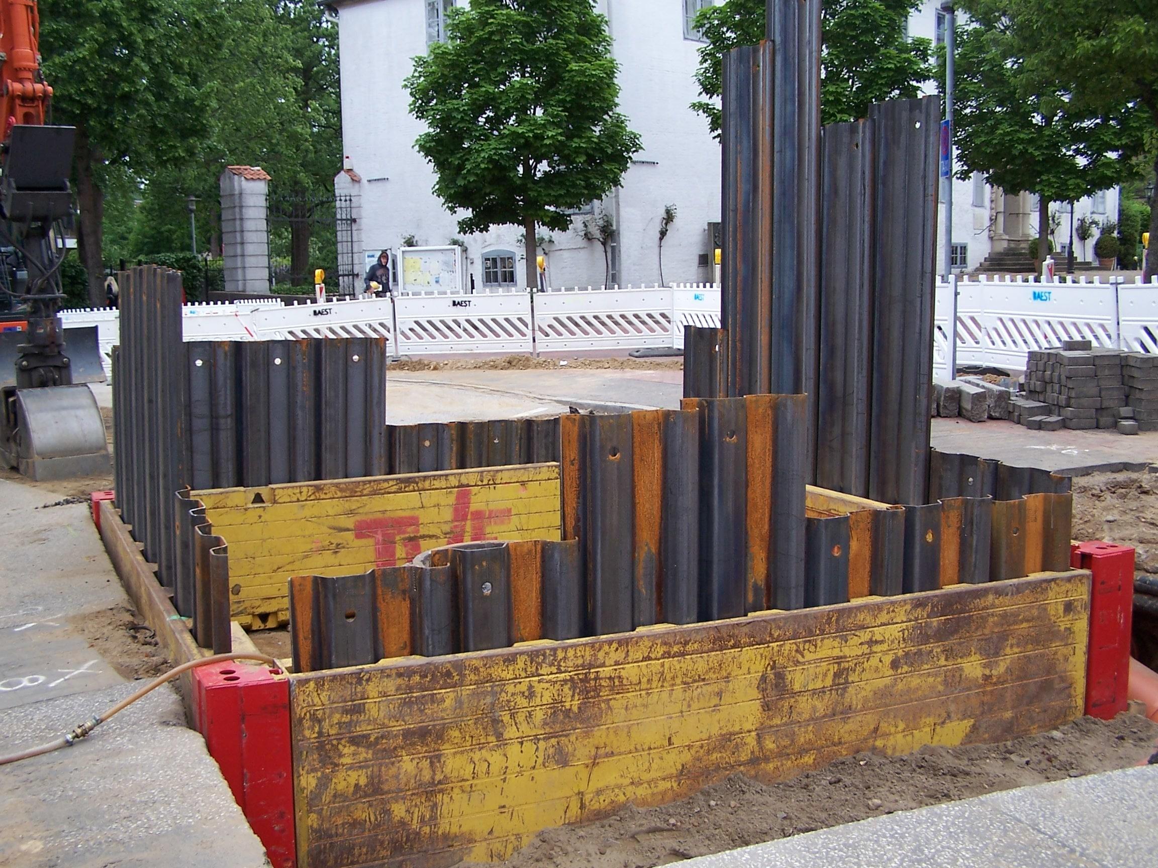 Kammerdielenverbau, Innerstädtisch, Grundwasserabsenkung, Tiefenbrunnen